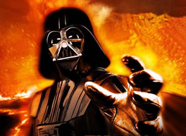 MP3 News link; image of Darth Vader; feature story is FEEL THE POWER OF THE FED