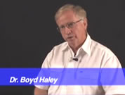 picture of dr. boyd haley; click to go to first video page; opens in new window
