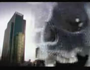 collage of skyscraper and evil-looking skull; click to go to video page at external site; opens in new window
