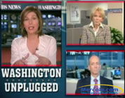 swine flu hype video link; thumb of graphic collage of Sharyl Attkisson, Bernadine Healy, and Joseph Mercola