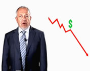 funny US debt downgrade videos link; thumb of Robert Reich next to a down-trending graph