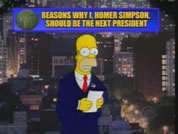 image of homer simpson against NYC backdrop; link for funny animation; opens in new window
