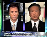 news anchor and Chinese spokesman on screen; click to go to video page at external site; opens in new window
