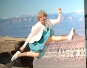 social security satire video link; thumb of old woman jumping Grand Canyon