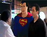 seinfeld and superman video link; thumb of seinfeld and superman in a deli getting ready to order