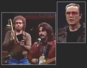 funny rock music video link; thumb of Christopher Walken and other actors in music studio