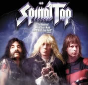 stylized photo-graphic of the three Spinal Tap band members; link for video; opens in new window