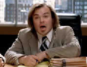photo of Jack black as lawyer; link for funny video; opens in new window