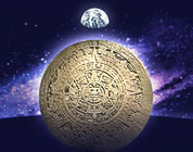 2012 transformation videos link; thumb of Mayan shield against background of cosmic energies