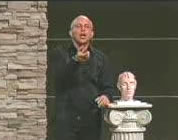 funny brain video link; thumb of mark gungor on stage