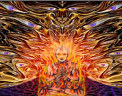 fight the new world order video link; thumb of ascendant woman in transformational fire
