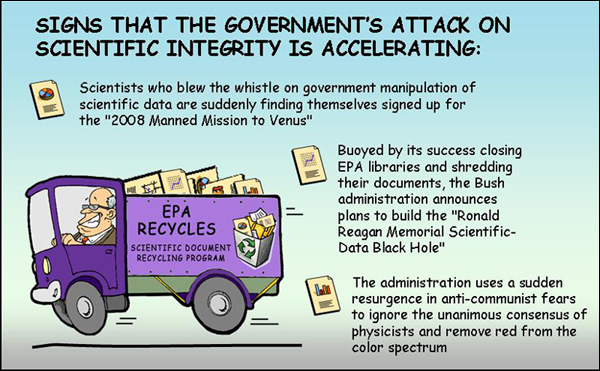 funny joke set about scientific integrity, cartoon bureaucrats, and ...